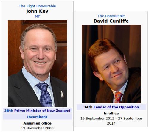 john key vs david cunliffe